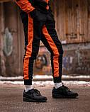 Спортивный костюм Benimaru O черно-оранжевый, фото 2
