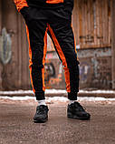 Спортивный костюм Benimaru O черно-оранжевый, фото 3