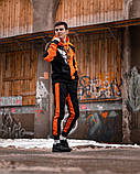 Спортивный костюм Benimaru O черно-оранжевый, фото 7