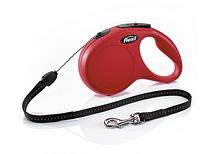 Рулетка Flexi NEW CLASSIC  S  8m/12kg  (трос) красная