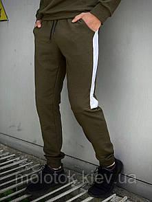 """Мужские спортивные штаны хаки-белый Intruder """"Spirited""""+ Подарок"""