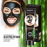 Черная маска Blackhead Remover mask  Techamor- глубокое очищение пор, от угрей 120 мл - туба