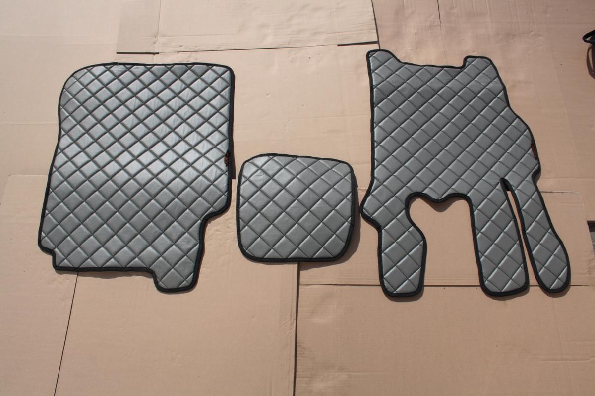 Килимки в салон Daf CF 85 сірі еко шкіра з 4-х частин (механіка)