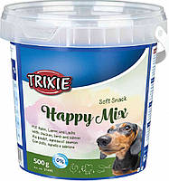 31421 Trixie Soft Snack Happy Mix с курицей, ягненком и лососем, 700 гр