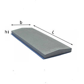 Парапет бетонный на забор 250х1000 мм