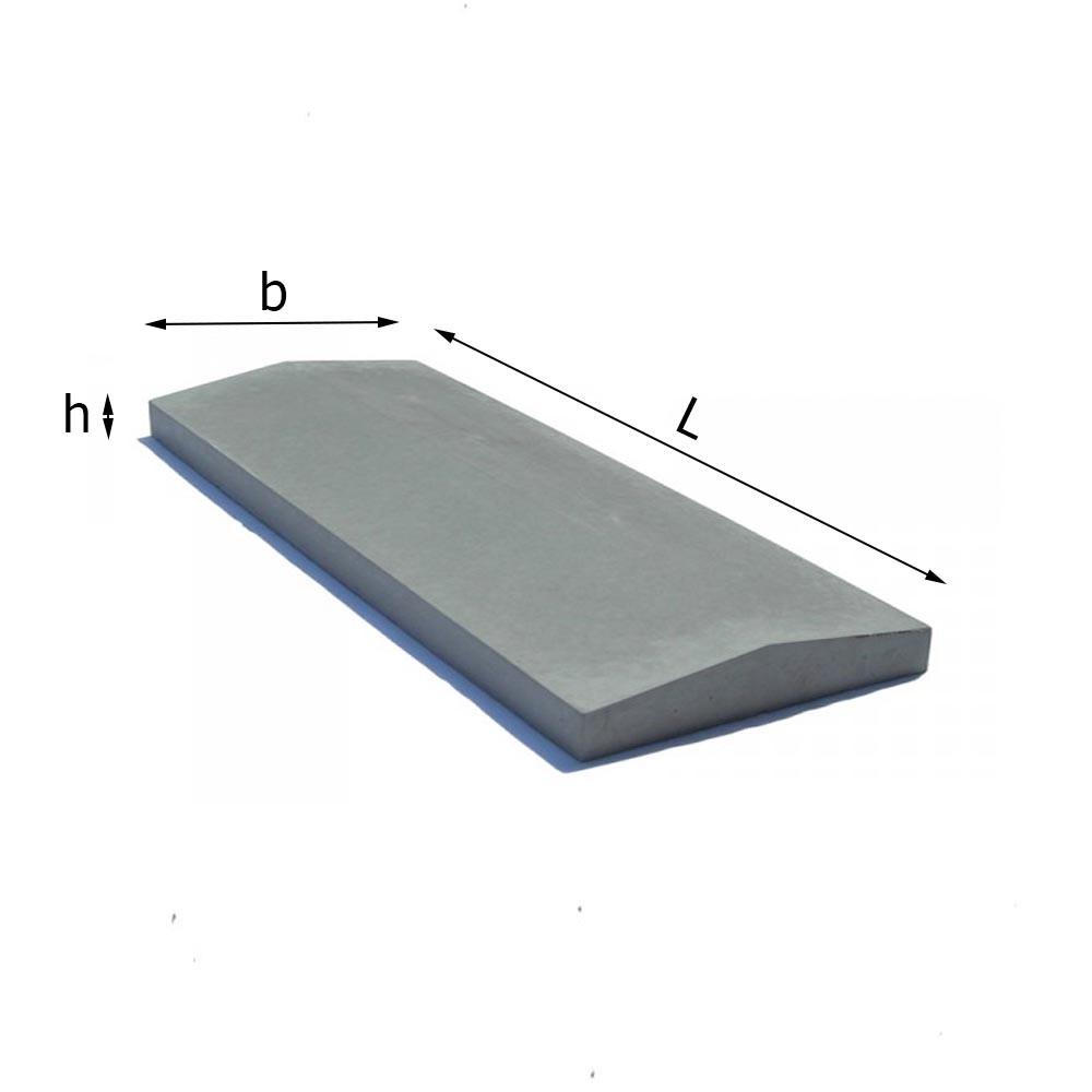 Парапет бетонный на забор 300х1000 мм