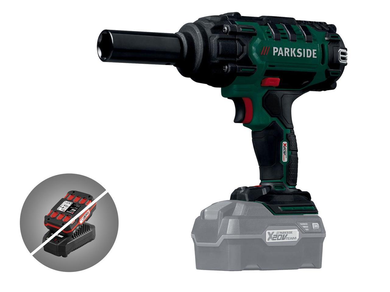 Аккумуляторный ударный гайковёрт PARKSIDE PASSK 20-Li A1 (Без аккумулятора / без зарядного устройства)