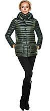 Трендовая куртка женская цвет темный хаки модель 15115