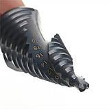 Набір 3шт чорних ступінчастих Спіральних свердел швидко ріжуча сталь HSS . 4-12/20/32 мм з покриттям нитридным, фото 2