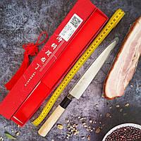Японский нож кухонный Янагиба для суши и сашими KAI Yanagiba с односторонней заточкой для роллов 210 мм