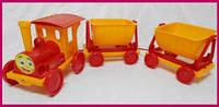 Детский пластиковый поезд с прицепом 013784-2