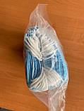 Медична 3-х шарова маска для обличчя на гумках фабрична одноразова спанбонд 50 шт., фото 5