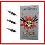 Картриджі модулі для тату і татуажу стерилізовані BIG WASP Gray Prestige 1201RL (20 штук), фото 4