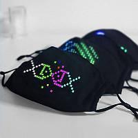 Захисна маска з LED-дисплеєм