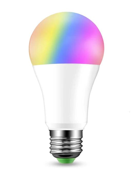 Умная cветодиодная лампа с WI-FI управлением 9W 4000К+RGB A60 E27 220V Код.52592