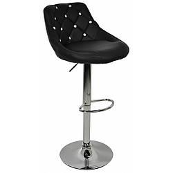Барний стілець зі спинкою Bonro B-801C чорний