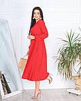 Женское платье, супер - софт, р-р 42-44; 46-48 (красный), фото 3