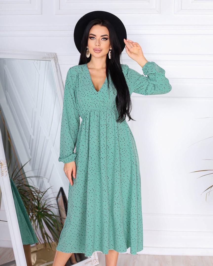 Женское платье, супер - софт, р-р 42-44; 46-48 (оливка)