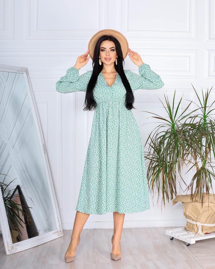 Женское платье, супер - софт, р-р 42-44; 46-48 (оливковый)