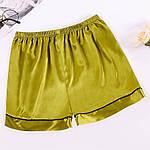 Шорті домашні жіночі Basic, зелений Berni Fashion