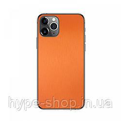 Антибликовая защитная пленка на смартфона Оранжевый Металик