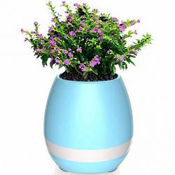 Портативный умный цветочный горшок-колонка Smart Music Flowerpot с музыкой Blue
