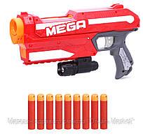 Мега бластер Нерф, Магнус + подарок тактический фонарик - Magnus, Blaster, Mega, Nerf, Hasbro