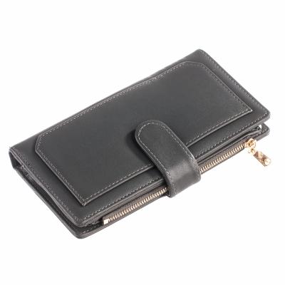 Гаманець двосекційний ClassicSeries сірий, еко шкіра, 3306 Dark gray