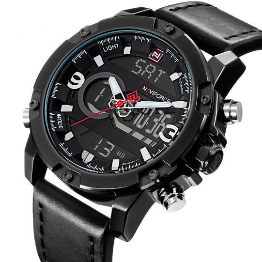 Мужские наручные часы Naviforce Kosmos Black NF9097