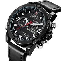 Чоловічі наручні годинники Naviforce Kosmos Black NF9097, фото 1
