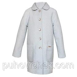 Модное детское пальто для девочки кашемировое весеннее размеры 140-158