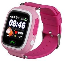 Детские смарт часы Q90S Pink с GPS