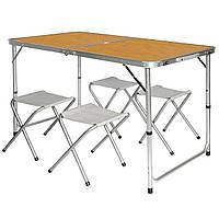 Стол Раскладной для пикника Туристический со стульями в чемодане набор складной стол и 4 стула Easy Campi