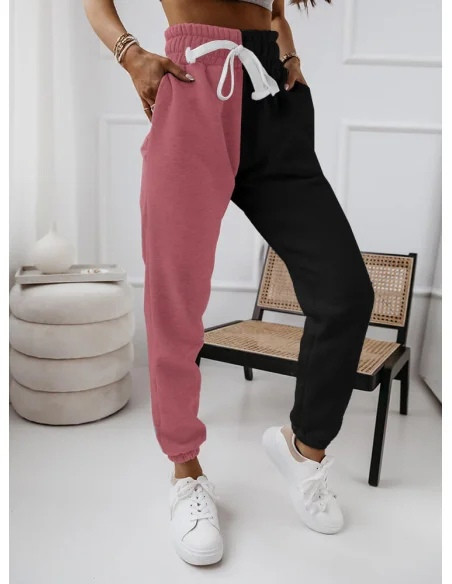 Жіночі спортивні штани, турецька двунить, р-р 42-44; 44-46 (фрез+чорний)