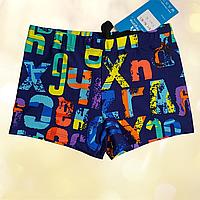 Плавки шорты  купальные детские синие Размеры 104-110 116-122 116-122, синий