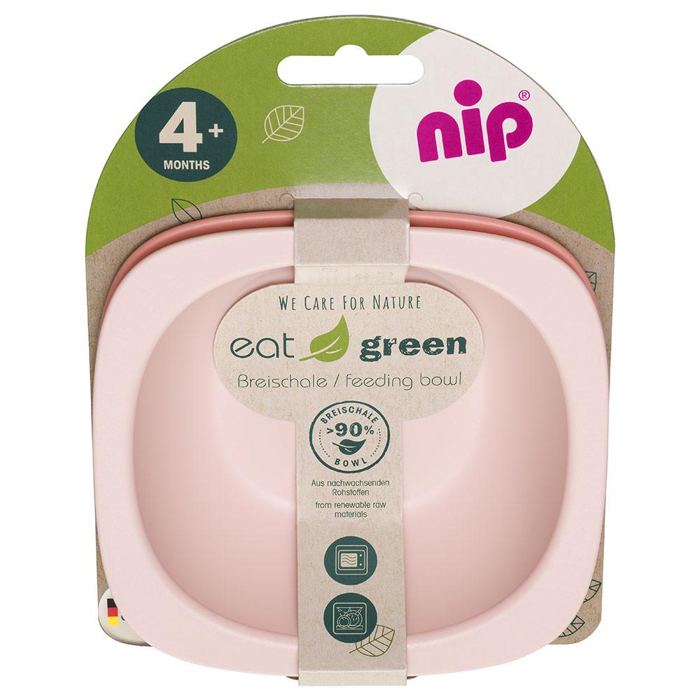 Мисочки для кормления глубокие  Nip, эко-серия Green, 2 шт., 300 мл, розовый (37065)