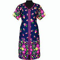 Красивый женский халат купон в цветочном принте с 44 по 66 размер