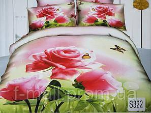Комплект постельного белья ELWAY (Польша) 3D LUX Сатин Евро Подарочная упаковка (322)