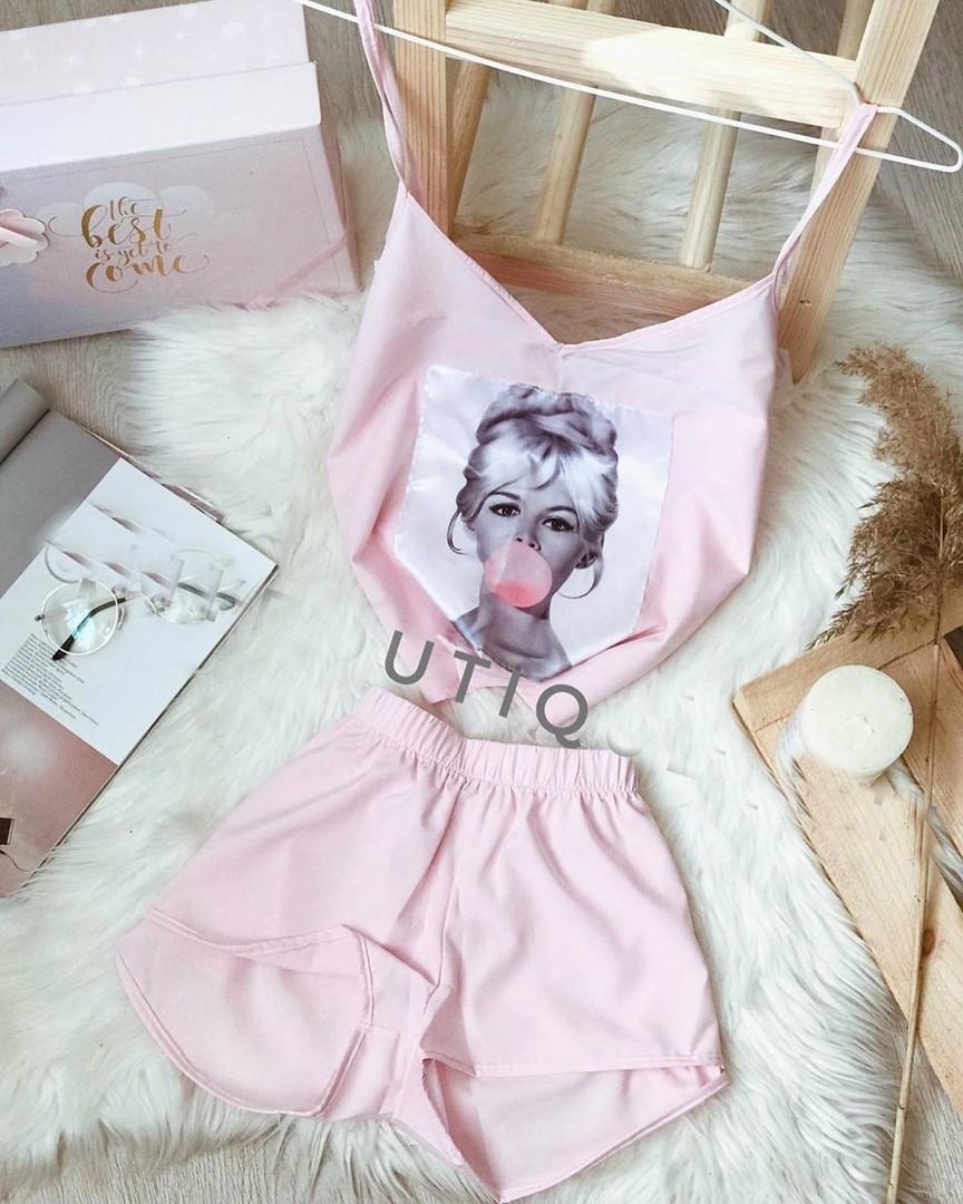 Женская пижама, софт, р-р 42-44; 44-46 (пудра)