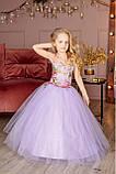 """Детское нарядное платье """"Цветы"""" с компьютерной вышивкой, фото 3"""