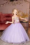 """Детское нарядное платье """"Цветы"""" с компьютерной вышивкой, фото 2"""