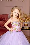 """Детское нарядное платье """"Цветы"""" с компьютерной вышивкой, фото 4"""