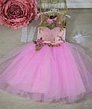 """Детское нарядное платье """"Цветы"""" с компьютерной вышивкой, фото 6"""
