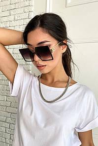Коричневі жіночі сонцезахисні окуляри в квадратній оправі (1717.4564 svt)