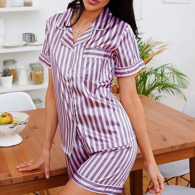 Женская пижама, шёлк, р-р С; М; Л; ХЛ (фиалка)