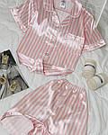 Жіноча піжама, шовк, р-р С; М; Л; ХЛ (пудровий), фото 2