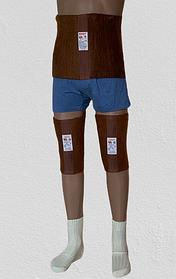 Зігріваючий комплект-трійка Nebat (товстий пояс + наколінники + шкарпетки ) ВП3
