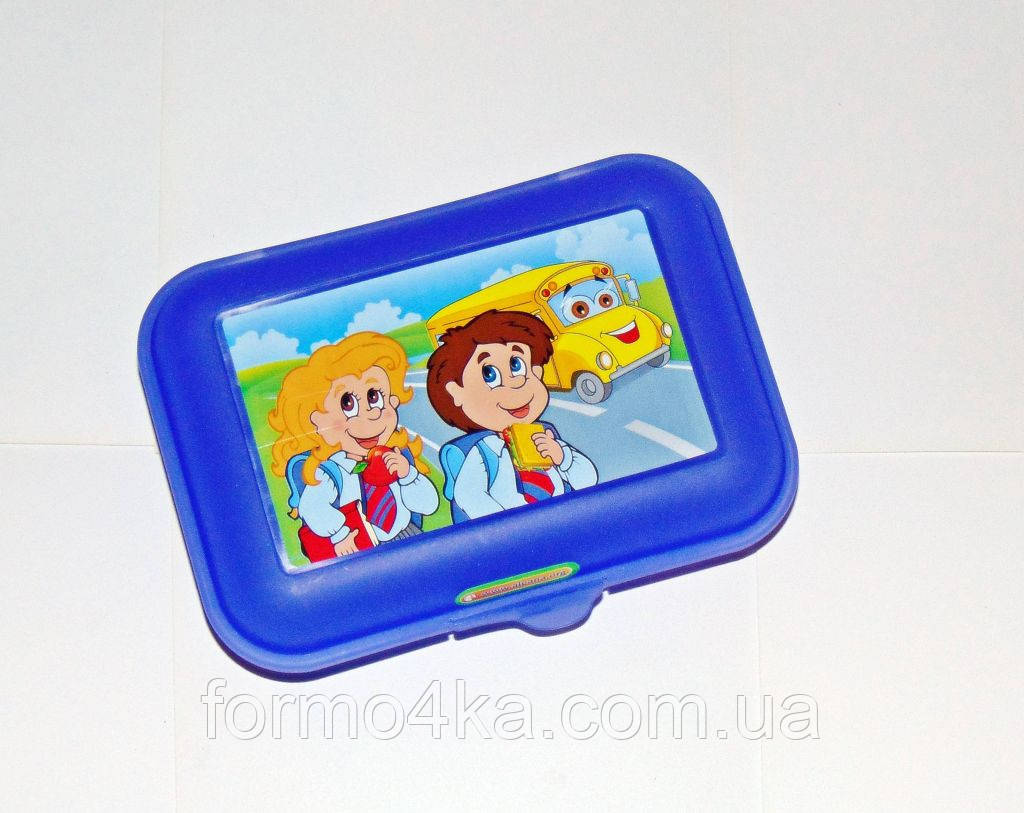 Бутербродница детская пластмассовая
