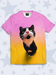 Дитяча Футболка Чорно-біла кішка