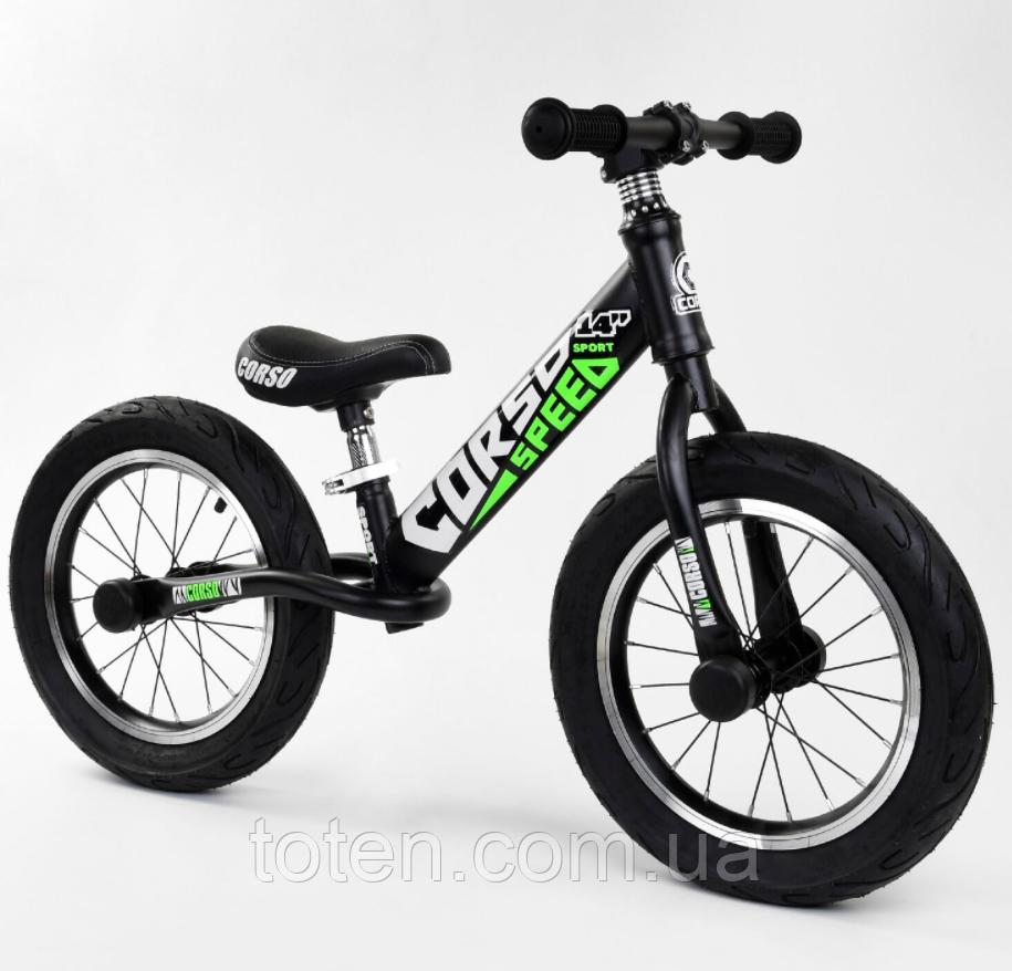 """Велобег 14"""" CORSO 15322  стальная рама, колеса надувные, алюминиевые диски. Cидение регулируется"""